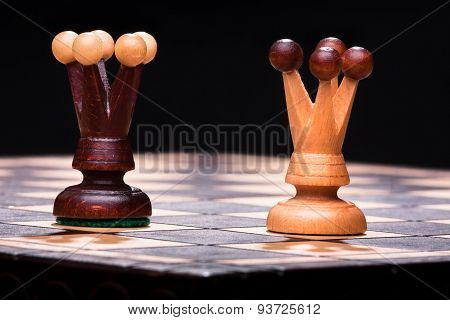 Two Chess Queens