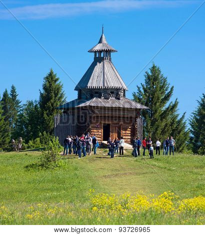 Wooden Watchtower In Khokhlovka