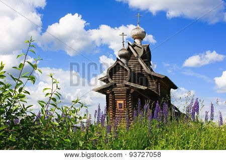 Ancient Wooden Church Of Transfiguration