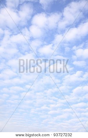 Sky with clouds, may be used as background (vertical)