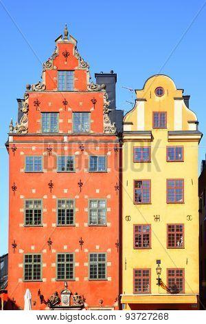 Old houses on Stortorget square, Stockholm