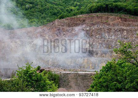 Rock Mine After Explosion