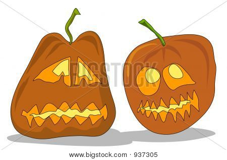 2 Smile Pumpkins