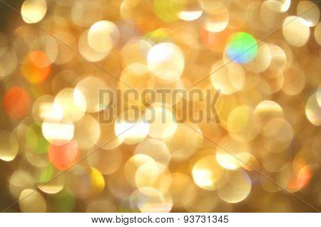 Bokeh gold