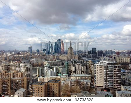 Moscow, Russia - Apr 20, 2015: New Commercial District Of Moscow International Business Center (mosc