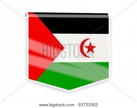 Flag Label Of Western Sahara