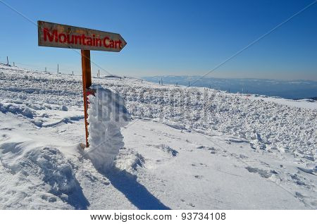 Mountain Cart Sign