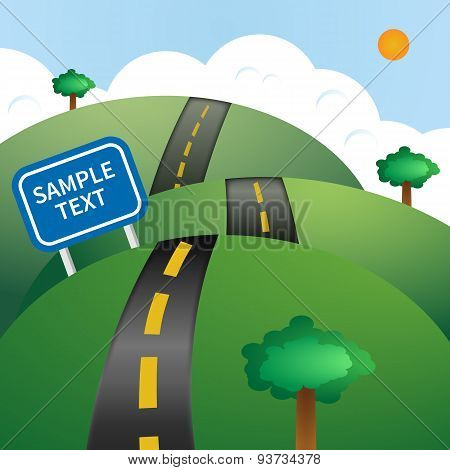 Road vector illustration