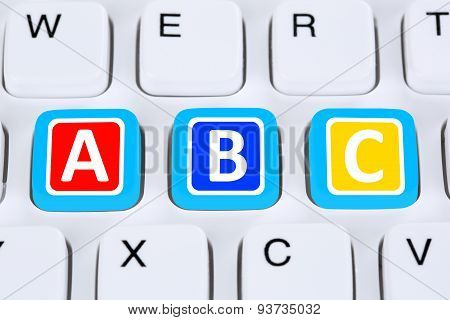 Back To School Learning Abc For Student On Computer Private Lessons
