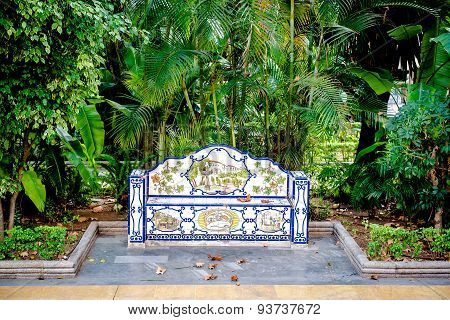 Decorative Ceramic Tiled Bench