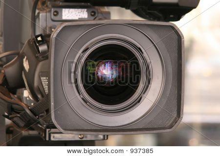 Video Camera Up Close