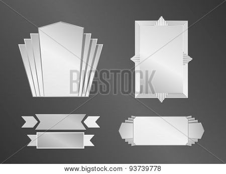 Art Deco Objects (frame, Ribbons And Banners)