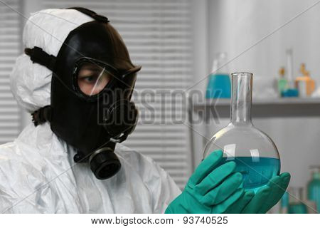 Chemist working in drug laboratory