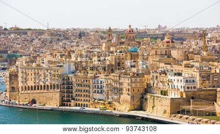 beautiful panoramic view on Valletta  in Malta