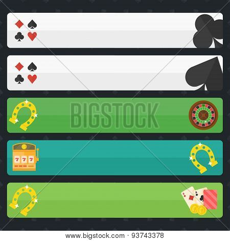 Casino or poker banners