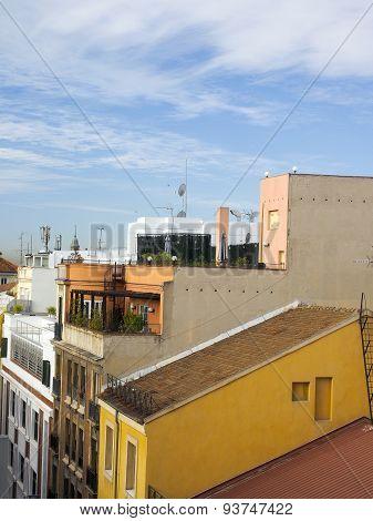 Rooftops Madrid Spain Europe