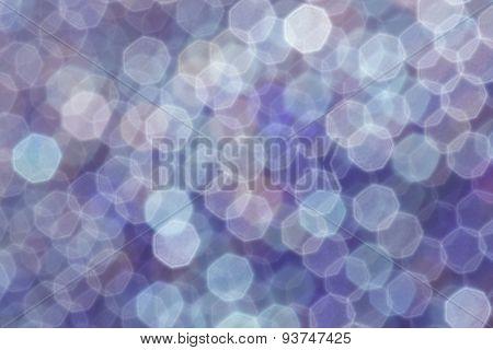 Abstract Blue Christmas Lights