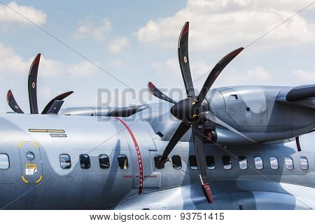Poznan, Poland - June 14: Polish Air Force Casa C-295M During Aerofestival 2015 Event On June 14, 20