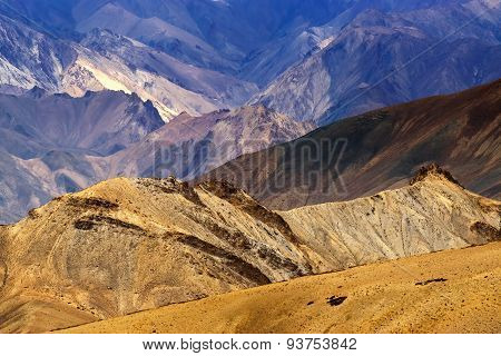 Rocks And Stones, Moonland, Mountains, Ladakh Landscape Leh, Jammu Kashmir, India