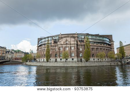 Riksdagen. Swedish Parliament Building