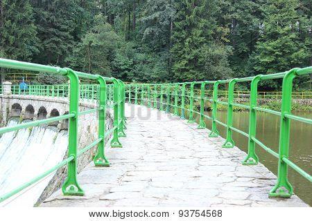Green Bridge And Dam Water