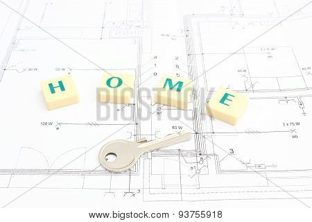 Silver Key And Word Home On The Housing Plan