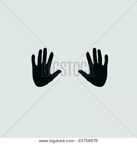 Hand On Grey Vector