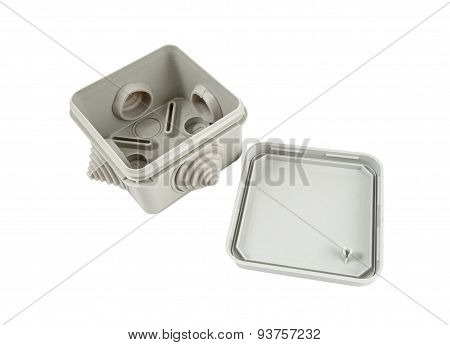 Grey Plastic Electrical Junction