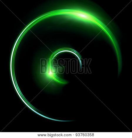Green Half Ring Double Flares