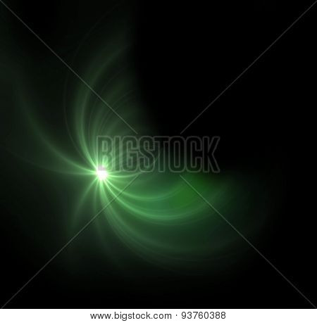 Green Light Expose Half Ring Flare