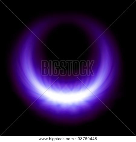 Purple Glow Burning Ring Flare