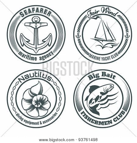 Nautical Stamps Set