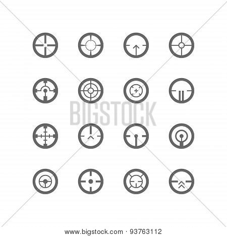 Crosshairs Icon Set