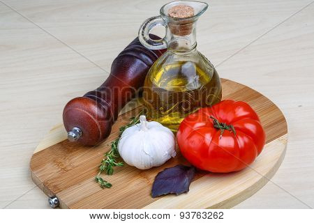 Olive Oil With Thyme, Garlic
