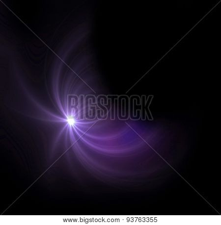 Purple Light Expose Half Ring Flare