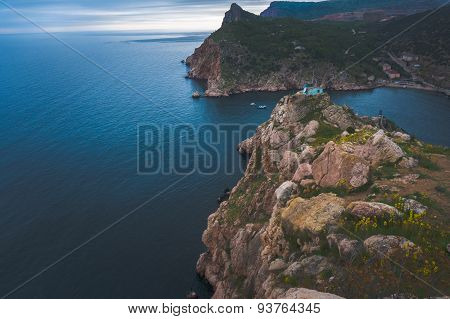 Crimean mountains in Balaclava, Sevastopol