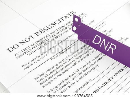 Dnr Bracelet And Hospital Form