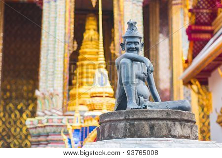 The statue of Buddha. Wat Pho Temple in Bangkok.