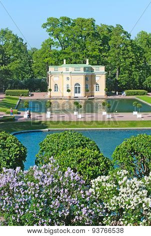 Tsarskoye Selo (Pushkin), Saint-Petersburg, Russia. The Upper Bathhouse Pavilion