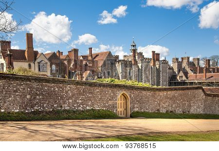 SUSSEX, UK - APRIL 11, 2015: Sevenoaks  Old english mansion 15th century. Classic english country si