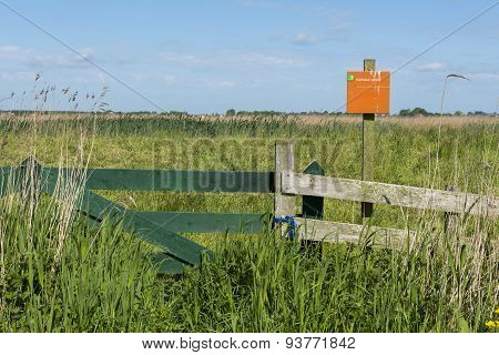 Fence Of Nature Reserve