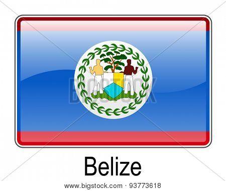 belize official flag, button flag