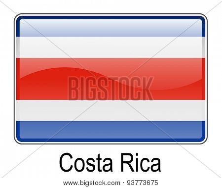 costa rica official flag, button flag