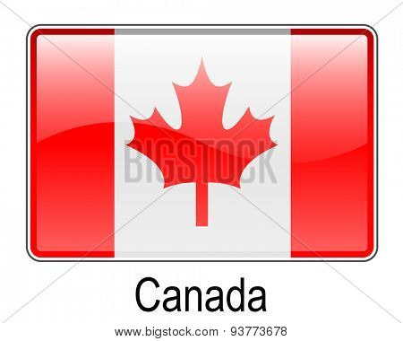 canada official flag, button flag
