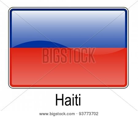 haiti official state button flag