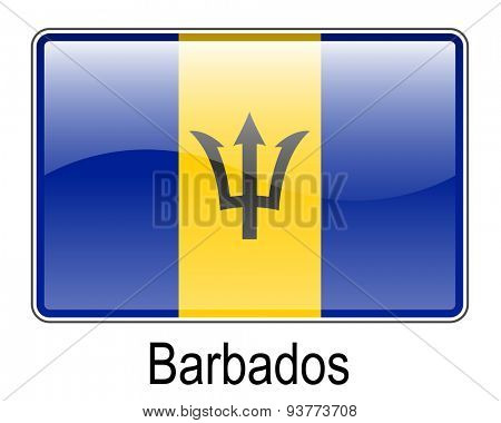 barbados official state button ball flag