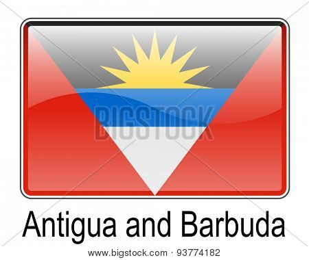 antigua and barbuda official state button flag