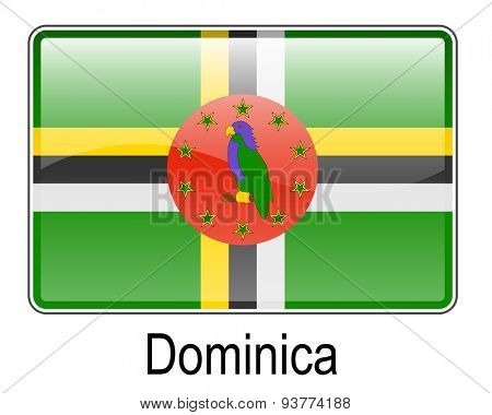 dominica official state button flag