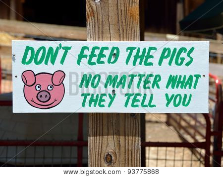 Sign at Petting Zoo