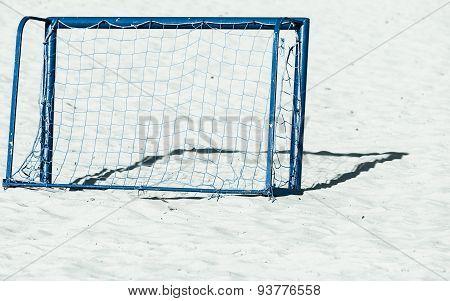 Football Gate On Sandy Beach Soccer Goal